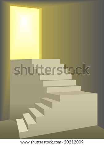 two flights of stairs symbolize
