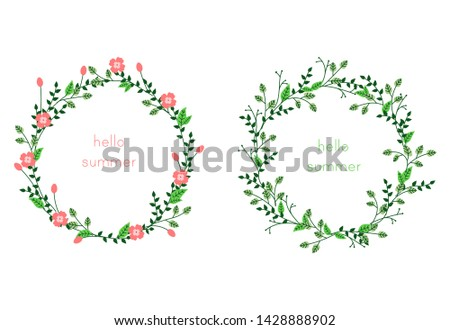 Two frames design with leaves - Download Free Vectors