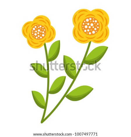 two flowers decorative spring