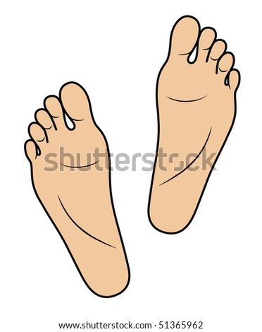 Two foots isolated on white