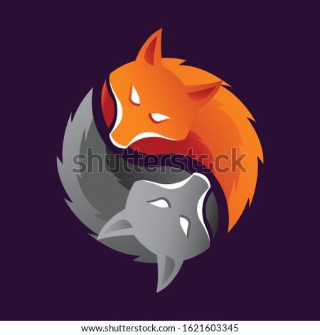 Two Foxes Logo Concept Design