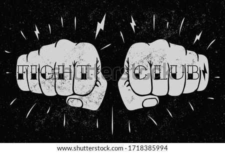 two front view fists with fight