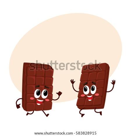 two funny chocolate bar
