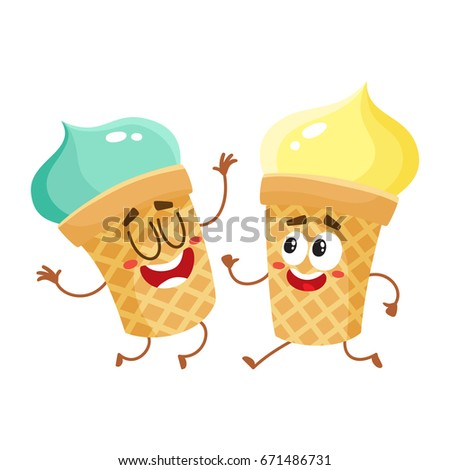 two funny ice cream cup