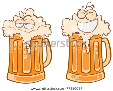 Two funny pint of beer.