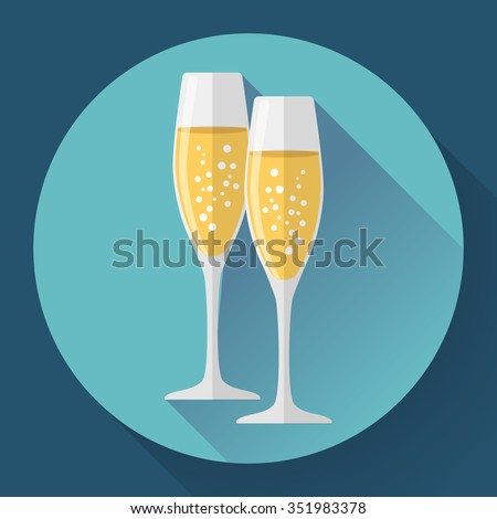 two glasses of champagne icon
