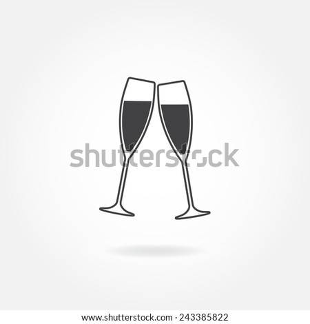 two glasses of champagne or