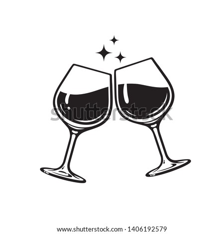 two glasses of wine cheers
