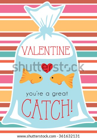 two goldfish in bag valentine
