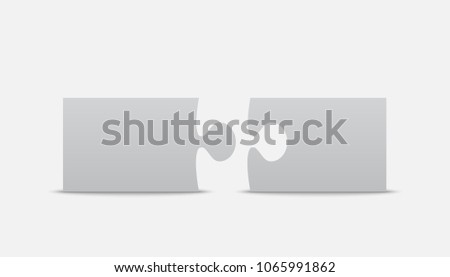 Two Grey Piece Puzzle Infographic Presentation. 2 Step Square Business Diagram. Section Compare Service Puzzle Banner. Vector Illustration Template Shape. Jigsaw Object. Puzzle Couple. Pieces.