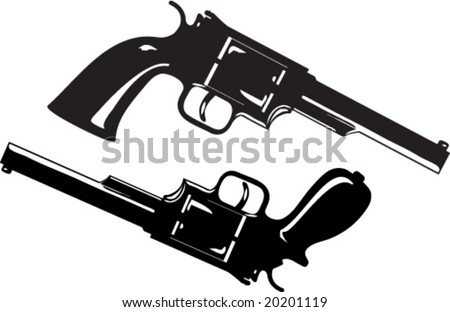 Two guns, one of them with the custom made handle