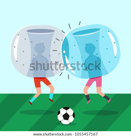two guys in inflatable zorb
