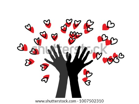 two hands and many hearts