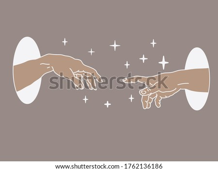 two hands appearing from the