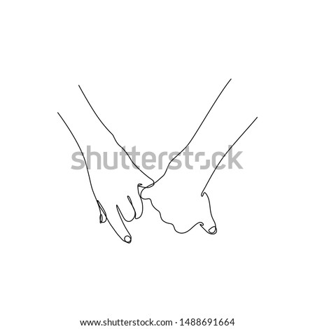 two hands hold fingers together