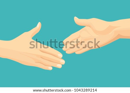 two hands ready for handshake