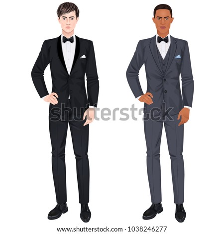two handsome guys in suits for