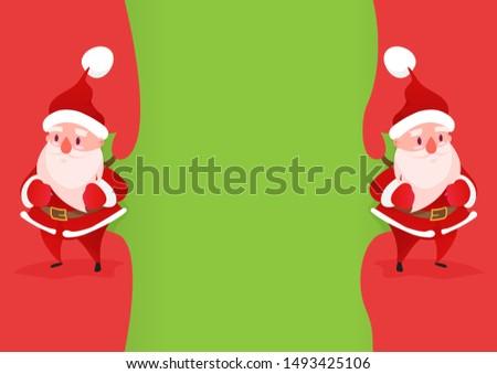 two happy santa claus comes