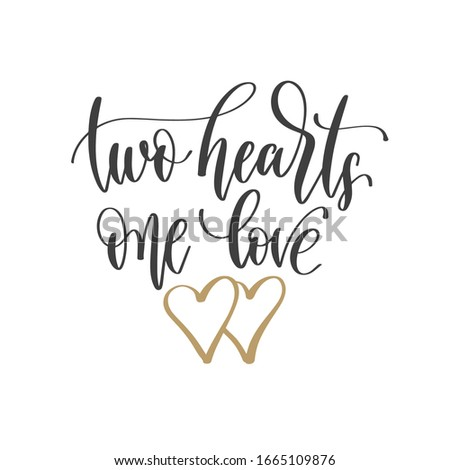 two hearts one love   hand
