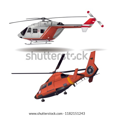 two helicopters vector