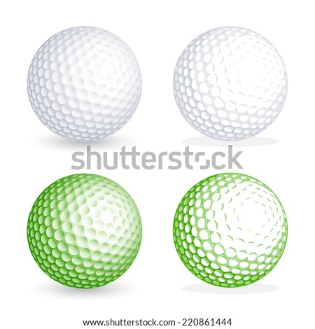 two hi detail golf balls  one