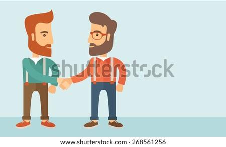 two hipster caucasian men