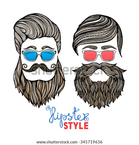 two hipster hair style men