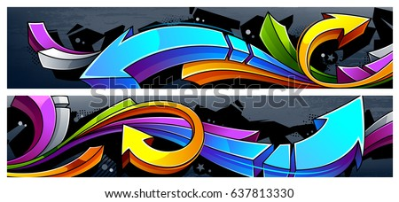 two horizontal banners with