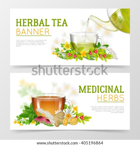 two horizontal colorful banners