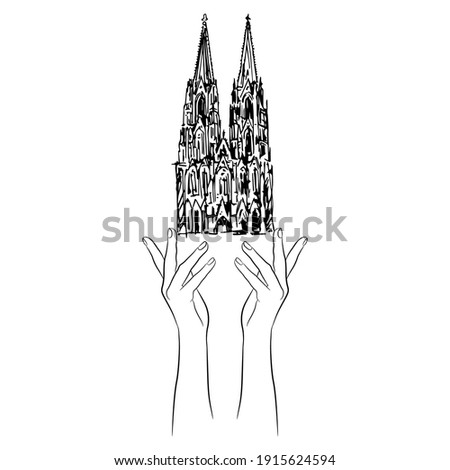 two human hands holding cologne