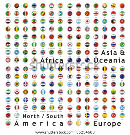 world flags images. vector world flags web