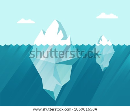 two iceberg in the sea business