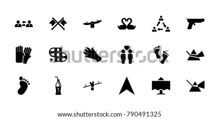 two icons set of 18 editable