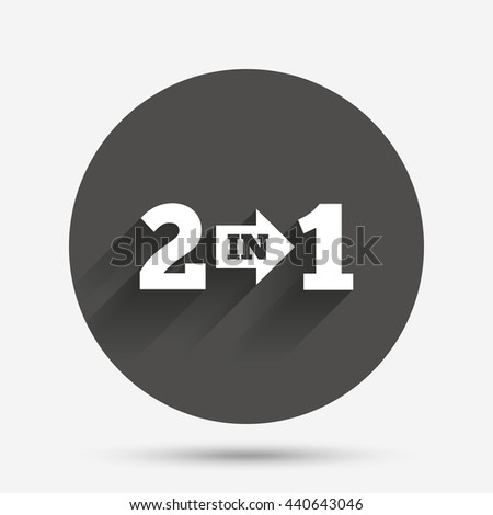 two in one suite sign icon 2