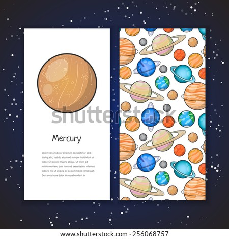 planet brochure template - jupiter 2 free vector 4vector