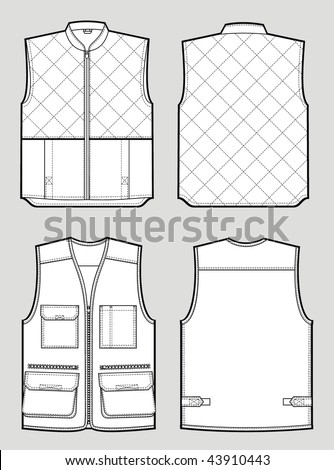 Two kinds of the various warmed waistcoat