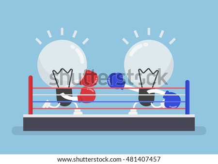 two light bulb wearing boxing