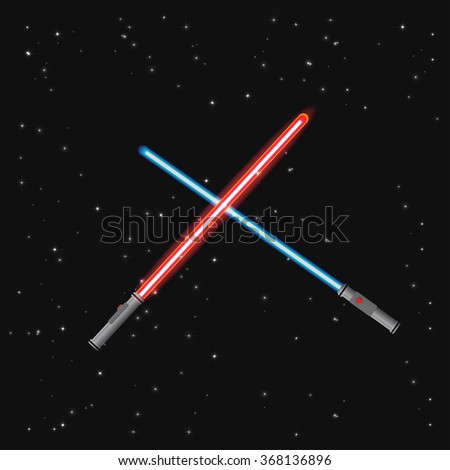 two light swords on stars