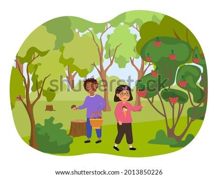 two little kids are walking