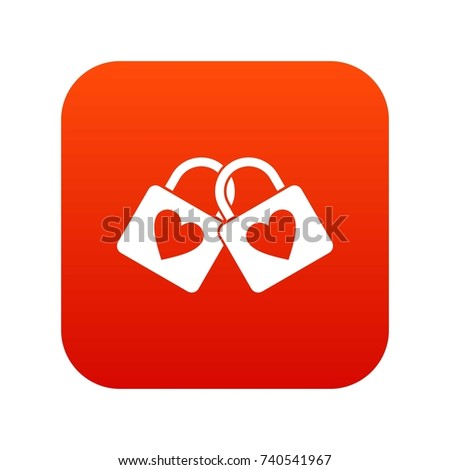 two locked padlocks with hearts