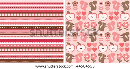 two lovely seamless patterns