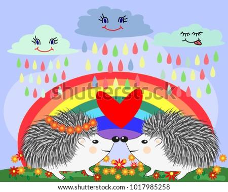 two lovers cute cartoon