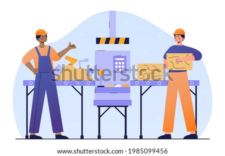 two male characters in workwear