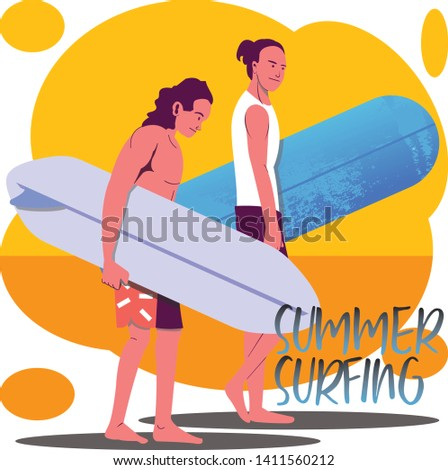 two man holding surfing board