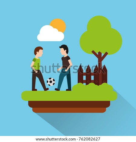 two man palying with football