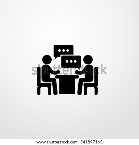 two mans sitting and talk icon