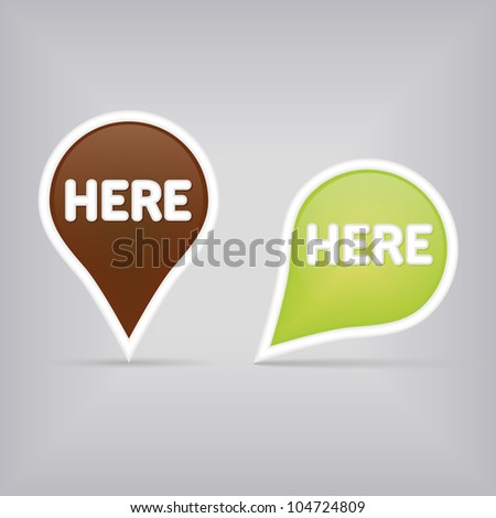 two map signs - green and brown