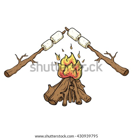 Marshmallow On A Stick clip art Free Vector / 4Vector