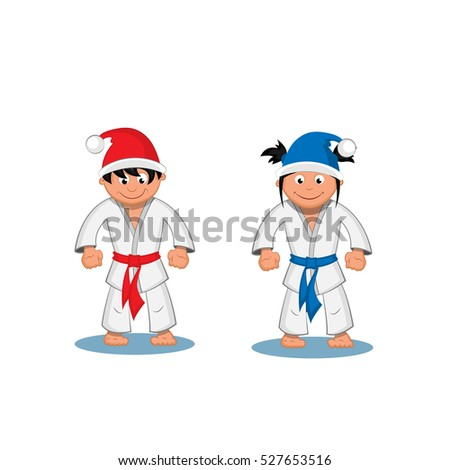 two martial arts fighter boy