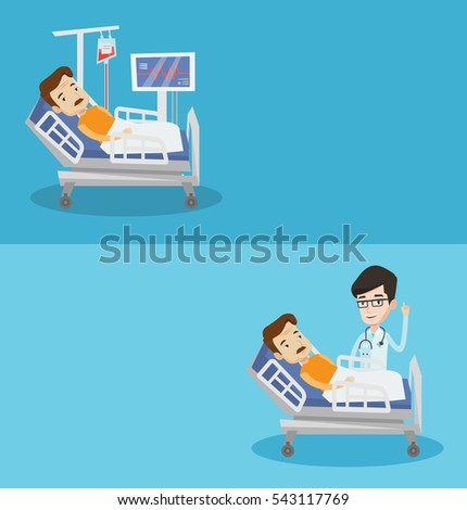 two medical banners with space
